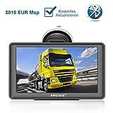 AWESAFE Navigationsgerät LKW PKW Navi 7 Zoll Sprachführung Touchsreen 8GB/256M mit Bluetooth...