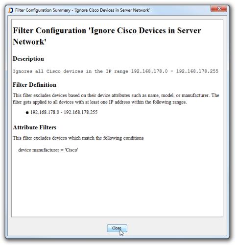 JDisc Discovery 3.3 Filtereinstellung
