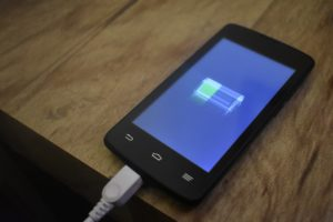 Ladevorgang beim Smartphone