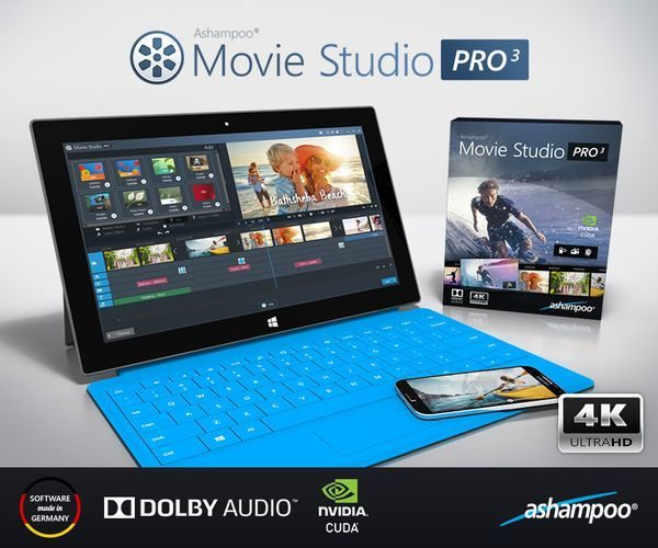 Ashampoo Movie Studio Pro 3 Videobearbeitungssoftware