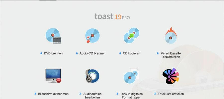 Roxio Toast 19 für Mac Interface