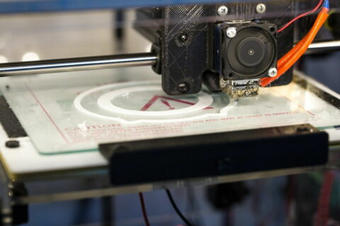 3D Drucker beim drucken